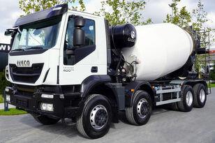 Gicaya  on chassis IVECO TRAKKER 400 , E6 , 8X4 , Cement mixer 10m3 , retarder , 100.000k concrete mixer truck