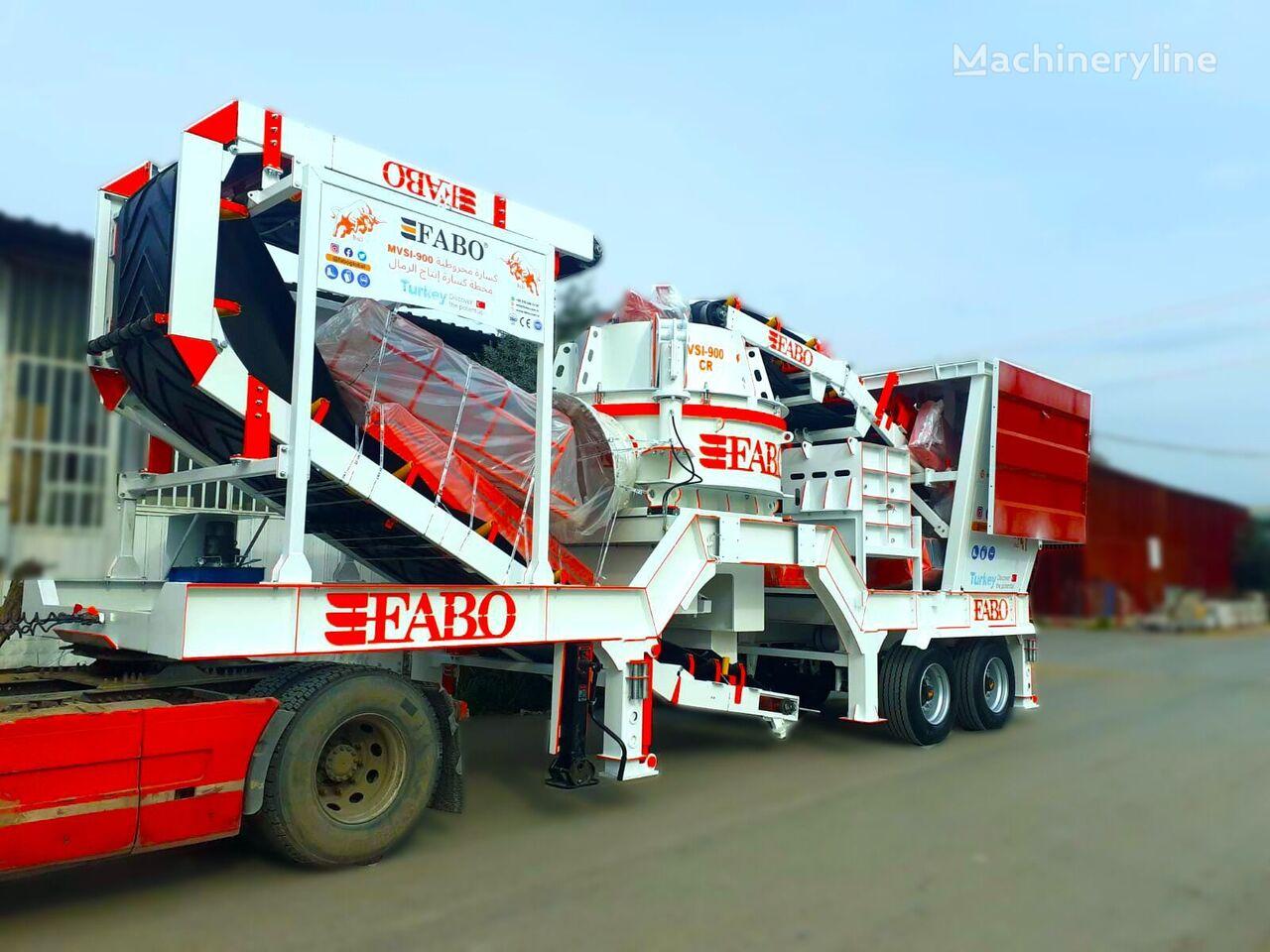 new FABO MVSI 900 MOBILE VERTICAL SHAFT IMPACT CRUSHING SCREENING PLANT crushing plant